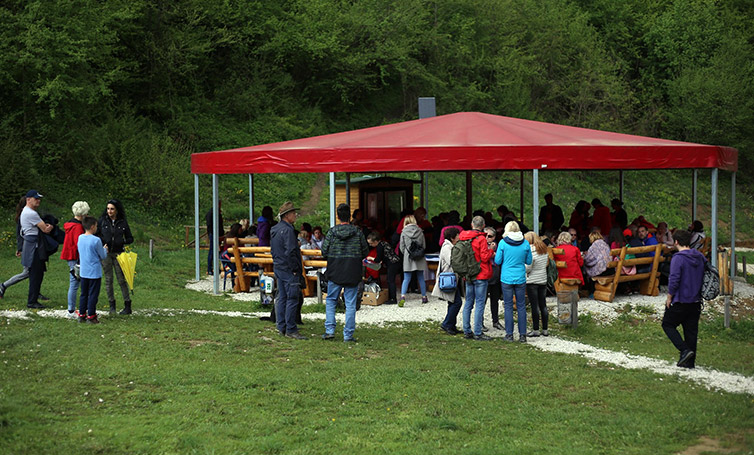 A large group of guests from Slovenia in recent days visited the Bosnian Valley of the Pyramids