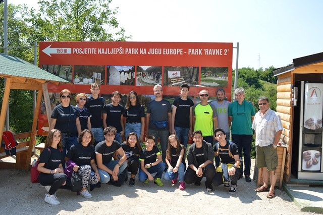 Students and teachers from the Turkish Balikesir visit Bosnian Valley of Pyramids