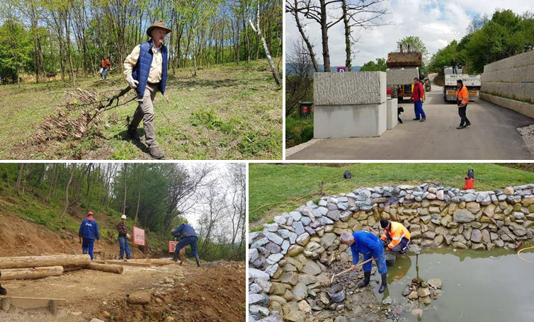 Fondacija neumorna, svakodnevne aktivnosti na uređenju parka 'Ravne 2'